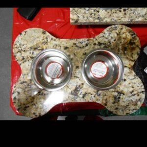 Granite pet food bowl Costa Rica