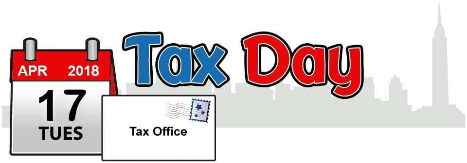 US Tax Day is April 17, 2018