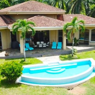 Villa Dahlmar, Costa Rica. Park-like Ocean View 3 Bedroom Home