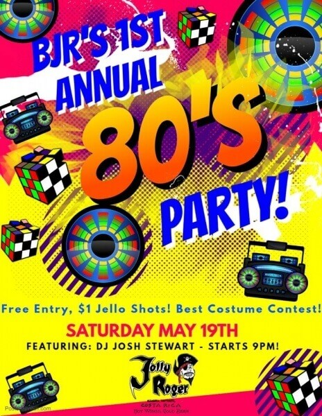 80's Annual Party at Bar Jolly Rogers