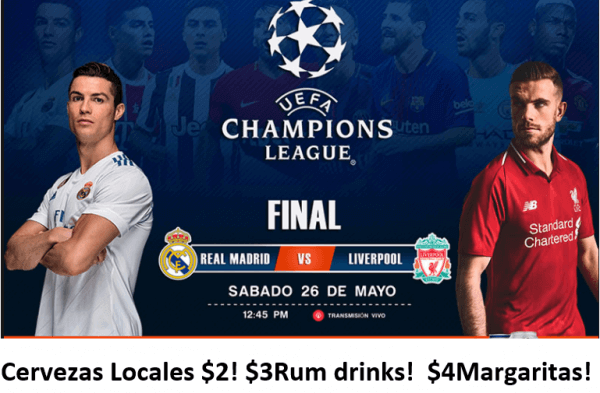 Champion League Game at Bar Jolly Rogers