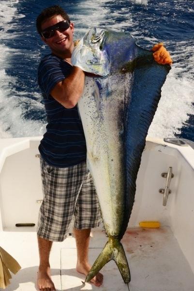 Zach and his 52 lb Mahi Mahi