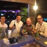 Camara de Comercio - Quepos - After meeting drinks at Shana Lounge Pool Bar.