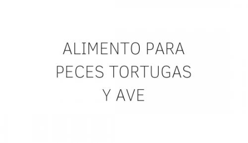ALIMENTO PARA PECES TORTUGAS
