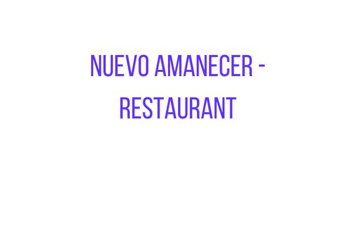 Nuevo Amanecer- Restaurant DUP