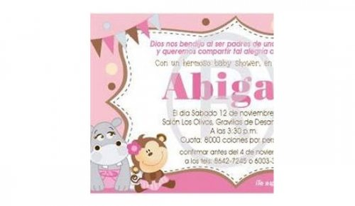 Invitaciones de Baby Shower y